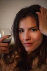 Super Takumar 50/1.4 at f/1.4 (Sebastian Pier Filip) Tags: canon 5d fullframe 5dc nightshot manualfocus handheld manual m42 takumar supertakumar50f14 supertakumar5014 50mm f14 bokeh portrait girl woman beautiful wine smile eyes