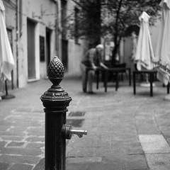 The fountain (IG: Ceche_Analogico) Tags: yashicamat124g ilford hp5plus blackandwhite bnw black blackwhite mediumformat film filmisnotdead film120 italy genova analog analogphotography grain light 6x6 street streetphotography bokeh
