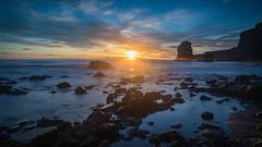 Risen (Justin Cameron) Tags: coastal marsdenbeach seascape canonef1635mmf4lisusm seastack dawn