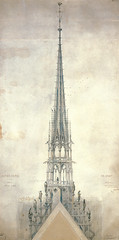 Notre_Dame_06 (Chris Protopapas) Tags: paris cathedral spire fleche architecture gothic neogothic notredame notredamedeparis france violetleduc drawing sculpture