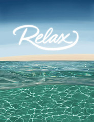 underwater relaxation (j.albright) Tags: digitalpainting ocean sea relax mindfulness water typography
