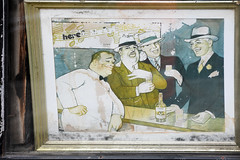 Carstairs Whiskey (Anthony Mark Images) Tags: oldpicture antique window soho nyc newyork manhattan bigapple print picture art bartender men drinking alcohol suits hats carstairs whiskey advertisement