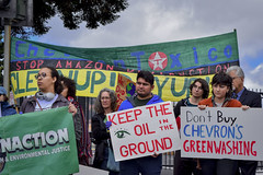 Anti-Chevron Day: Confronting Corporate Bullies (Rainforest Action Network) Tags: richmondca ca