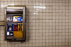 MTA Machine (Someone's Name) Tags: mta metrocard nyc subway newyork newyorkcity tiles tile gross machine publictransportation publictransport publichealth train creditcard receipt scanner grime worn subwaystation station