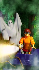 Oh guys. How many times have I told you that even in a spooky old castle, there's no such thing as ghosts. (custombase) Tags: scoobydoo figures spooky castle ghost velma dinkley toyphotography diorama