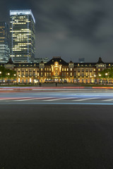 Tokyo Station Light Trail (separatesunsets) Tags: 21stmay2019 asia downpour holiday2019 japan may2019 rainy tokyo tourist warm