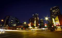 Austin Downtown at Dusk (Phil Ostroff) Tags: austin downtown dusk multiple exposures