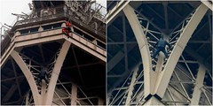 Eiffel Tower climber has been admitted to psychiatric unit (baydorzblogng) Tags: nigeria news africa international celebrity gists other education fashion