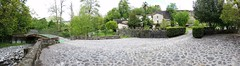 Il Glicine e La Lanterna (Elizabeth Almlie) Tags: italy toscana tuscany vignola agriturismo ilglicineelalanterna panorama panoramic bridge stone wall