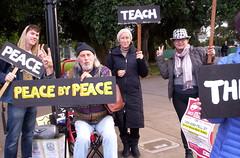 100_2788 (Haight Ashbury Neighborhood Peace Vigil) Tags: haight ashbury peace vigil iraq iran afghanistan syria venezuela war moratorium golden gate park panhandle san francisco may 2019