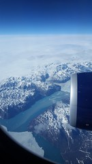 Flying over Greenland (Elizabeth Almlie) Tags: greenland airplane flight coast river ice snow