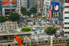 DSC_0016 (Adrian De Lisle) Tags: asia city cityscape crosswalk crowd japan people shibuya shibuyacrossing shibuyahikarie tokyo train trainstation shibuyaku tōkyōto