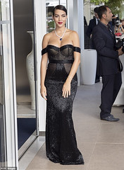 Cristiano Ronaldo's girlfriend, Georgina Rodriguez flaunts her stunning beauty in mesh gown at Hollywood Cannes premiere. Photos (baydorzblogng) Tags: nigeria news africa international celebrity gists other education fashion