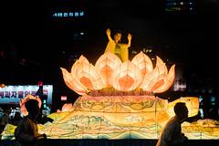 Lotus Lantern Parade with beautiful korean woman (kitsunekuma) Tags: fujifilm fujinon fuji xf35mmf2 night nightshot lantern lanterns lights light beautiful beauty lotus parade buddhism buddha buddhist dancer girl woman korea korean seoul insadong travelphotography travel traditional tradition
