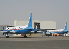 Phoenix Aviation    Ilushin IL-18's        EX-005 & EX-405 (Flame1958) Tags: phoenixaviation phoenixaviationil18 il18 ex405 ex005 2151 sharjah shj sharjahairport 241103 1103 2003 omsj مطار الشارقة الدولي