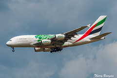 """[CDG] Emirates """"Expo 2020 Livery"""" Airbus A380-861 _ A6-EEW (thibou1) Tags: thierrybourgain cdg lfpg spotting aircraft airplane nikon d810 tamron emirates airbus airbusa380 a388 a6eew a380861 dubai sigma landing expo2020livery uae expo2020"""