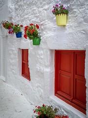 Shutters In Red (wowafo) Tags: windows sonysel18105mmf40g sonyalpha6000 weis fensterläden fenster shutters red rot türkei turkey bodrum