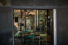 DSC07827 (apocapocbcn) Tags: spring sun facade street black door