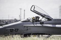 Getafe Airshow 2019 (Ejército del Aire Ministerio de Defensa España) Tags: aviación militar aviation military avión plane aircraft fuerzaaérea españa airforce baseaérea getafe madrid f18 ala12 cabina cockpit
