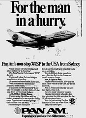 Nov1978No14 (mat78au) Tags: november 1978 melbourne newspaper extracts pan am ad nov 78 melb 747 sp fastest model