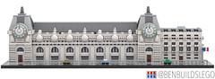 Micro Lego Musée d'Orsay, Paris (2) (BenBuildsLego) Tags: micro lego musée dorsay paris france french museum museums art microscale scale architecture legos bricks brick afol render 3d bricklink benbuildslego clock tower door classical building tiny ideas