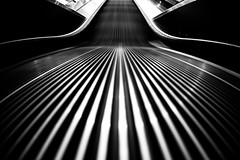 And Baby You're All That I Want (Thomas Hawk) Tags: america slc saltlakecity usa unitedstates unitedstatesofamerica utah bw escalator