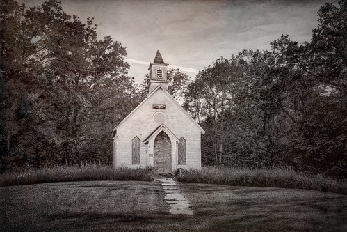 Abandoned Kyger Methodist Church from 1884 near Cheshire, Southeastern Ohio