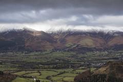 Snowy Skiddaw massif, Lake District National Park, Cumbria, UK (Ministry) Tags: rowlingend skiddaw lakedistrict nationalpark cumbria uk carlside littleman swinside portinscale millbeck applethwaite a66 jenkin hill greycrags valley newlandsbeck snow cloud