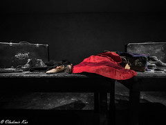 Auschwitz... Her last clothes (vladimir78F) Tags: auschwitz girl holocaust death concentrationcamps exterminationcamp desatured poland