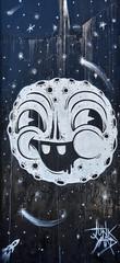 Face of the Moon (Atelier Teee) Tags: terencefaircloth atelierteee mural streetart hubbardstreet bline chicago illinois junkyard