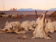 Prière du soir dans le Sahara (bpmm) Tags: algérie gustaveguillaumet lapiscine nord roubaix art expo exposition peinture