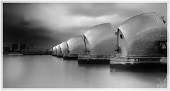 Holding back the tide (Andy J Newman) Tags: longexposure vulturelabs silverefex london river vulture nikon bandw bw flood blackandwhite d810 thames barrier england unitedkingdom