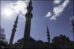 Süleymaniye Mosque (alamond) Tags: canon 7d markii mkii llens ef 1740 f4 l usm alamond brane zalar suleymaniyemosque mosque sinan architecture suleyman istanbul turkey sky blue sun light lightrays sultan building