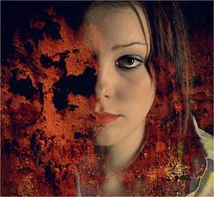 REMY ANNA 2558 (REMYRO) Tags: design portrait tableau cheveux graphic concept illustration art style femme futuriste futuristic beauty beauté surréaliste peinture aplats rouge orange
