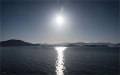 Sonnenaufgang (Aeschbacher Hilde) Tags: 110519 strasevonkorfu ionischesmeer albanischeküste sonnenaufgang pentaxk1