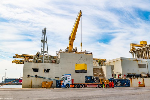 LARS/ROV/TMS Ect Delivered to The Simon Steven Berthed in Zeebrugge