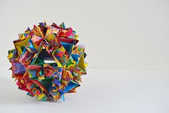 Tuscia Kusudama (Byriah Loper) (Byriah Loper) Tags: origami paperfolding paper polygon polyhedron byriahloper