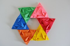 Offset Triangles Quilt (Byriah Loper) (Byriah Loper) Tags: origami paperfolding paper polygon polyhedron byriahloper