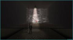 Sous le lampadaire (Tim Deschanel) Tags: tim deschanel sl second life art exploration bryn oh the standby trilogy immersiva lapin rabbit pluie lampadaire rain