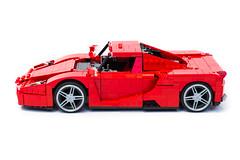 Enzo Ferrari 1:16 (5) (Noah_L) Tags: lego creation moc own ferrari enzo red car sportscar supercar hypercar noahl