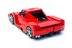 Enzo Ferrari 1:16 (8) (Noah_L) Tags: lego creation moc own ferrari enzo red car sportscar supercar hypercar noahl