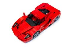 Enzo Ferrari 1:16 (3) (Noah_L) Tags: lego creation moc own ferrari enzo red car sportscar supercar hypercar noahl
