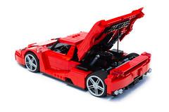 Enzo Ferrari 1:16 (12) (Noah_L) Tags: lego creation moc own ferrari enzo red car sportscar supercar hypercar noahl