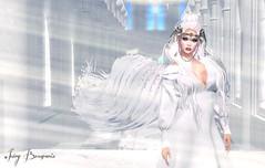 Masquerading In The Firmament - 05/2019 (IvoryBouscario) Tags: sl secondlife mementomori angel woman female beautiful beauty heaven photo