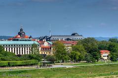 Dresden (binax25) Tags: dresden elbe elbflorenz neustadt hotel bellevue staatskanzlei finanzministerium klassizismus barock elbradweg spring frühling green baum