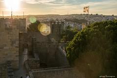 Portuguese summer sunset (greg luengen) Tags: summer sunset sundown flaring castle castelo portugal lisbon lisboa lissabon portuguese holiday sonyalpha nex6