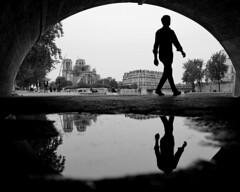 Walk Man (click100) Tags: bw blackandwhite blackwhite monochrome arc paris walk man legs canon candid eosrp mirrorless people seine riverbank