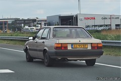 1984 Audi 80 CC (NielsdeWit) Tags: nielsdewit car vehicle highway motorway a12 driving snelweg ll95bt audi 80 cc 55kw 1984 b2