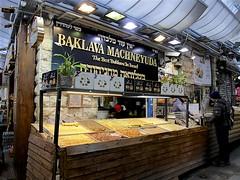 Baklava Machneyuda (oxfordblues84) Tags: machaneyehudamarket oat overseasadventuretravel jerusalemisrael jerusalem israel walkingtour market baklava shop store bakery baklavamachneyuda