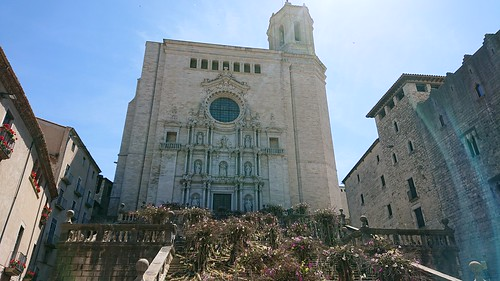 Girona Cathedral during the Flower Festival - The forest of flowers